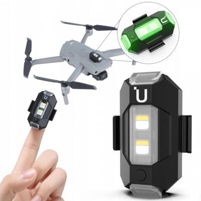 Lampka mini dioda LED do drona - 3 kolory/funkcje biała zielona czerwona