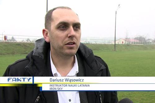 Dariusz Wąsowicz FAKTY wywiad o dronach w TVN IRON SKY