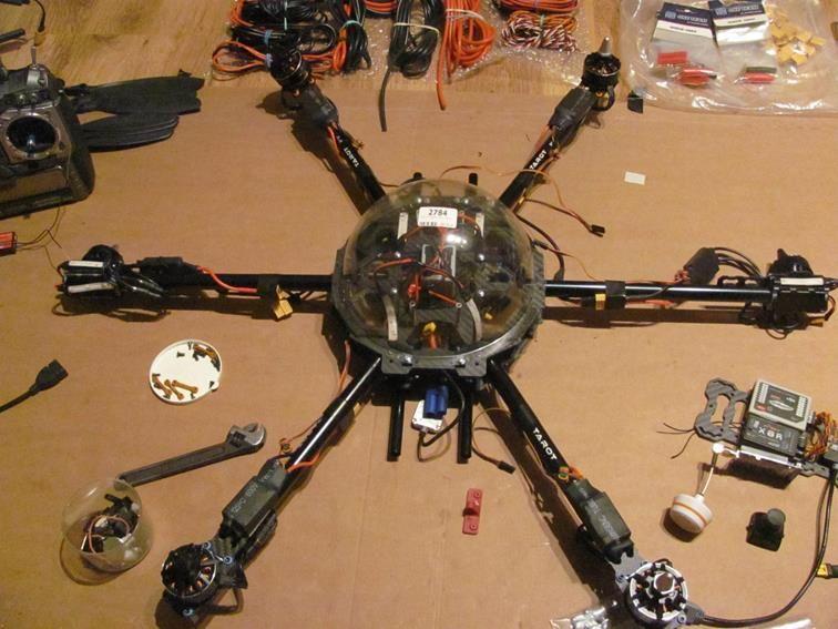 Dron hexacopter budowany na zamówienie ironsky.pl