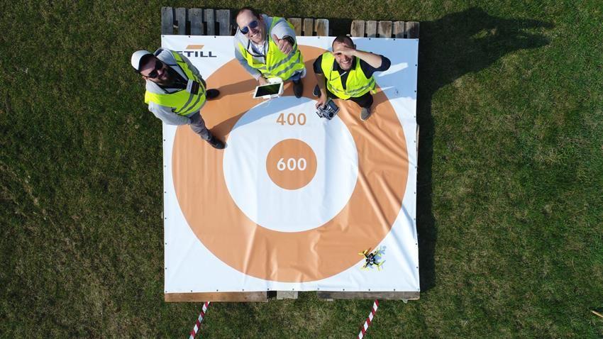 Mata do lądowania dronem, ocena celności lądowania dronem