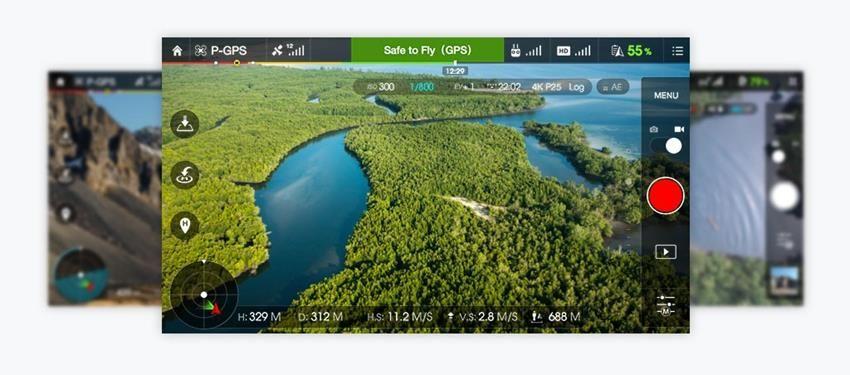 Podgląd na żywo z drona na Twoim urządzeniu mobilnym YouTube, Facebook