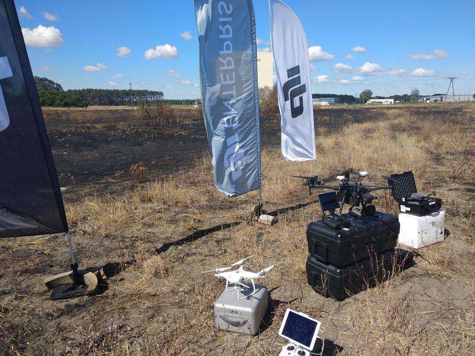 DRONY IRON SKY prezentacja i pokazy dronów dla straży pożarnej 06