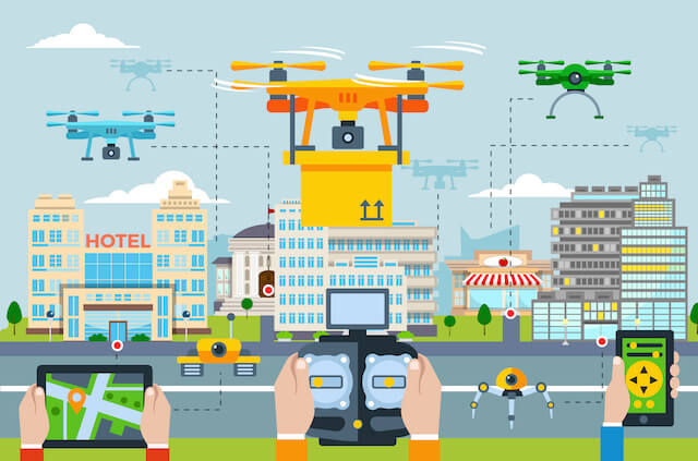 zastosowanie dronow