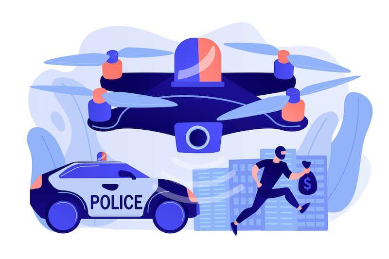 Drony w Policji i Straży Pożarnej